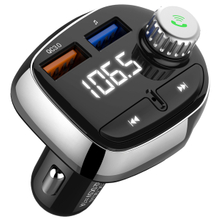 In-car LED Wireless Bluetooth FM Transmitter Adapter